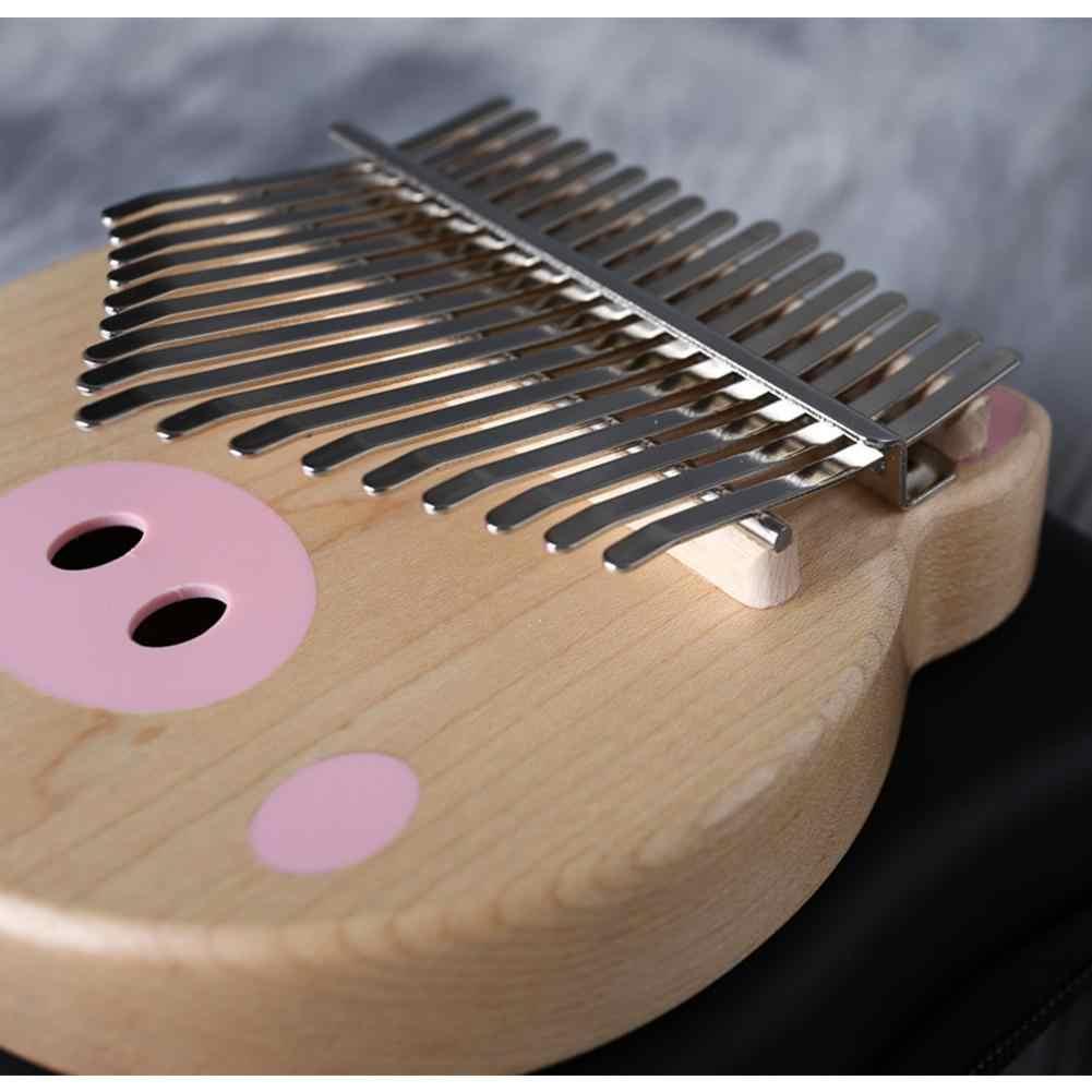 17 Key Kalimba Mbira «пианино для больших пальцев» мультфильм о розовой свинье узор клен дерево вибрафон инструмент с подарочной коробкой