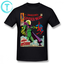 Spiderman T Shirt Spider-Man Spider Logo T-Shirt 100 Cotton Man Tee Plus size  Fun Short Sleeves Print Basic Tshirt