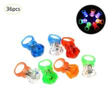 36pcs/set Luminous Rings New Child Toys Flash Gifts LED Cartoon Lights Glow In The Dark Toys For Childs Kids Playing In Night(China)