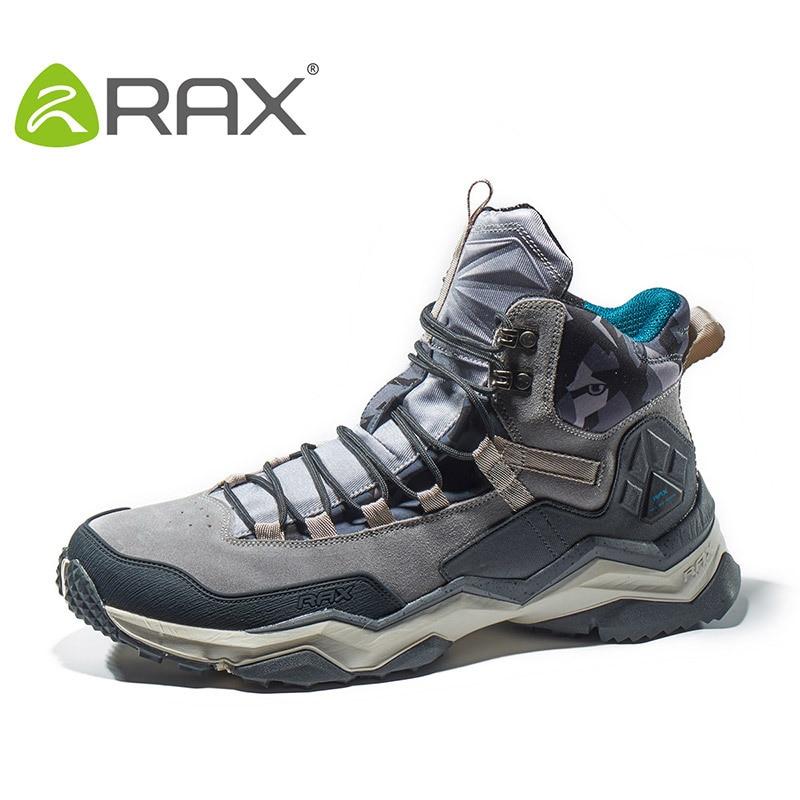 RAX Hommes Randonnée Bottes D'hiver Imperméables Bottes de Neige Chaude Anti-slip Chasse Chaussures Hommes En Plein Air Sneakers pour Hommes Trekking chaussures Lumière