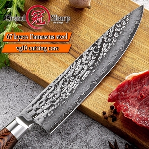 Image 2 - Damascus Chef Knife vg10 Japanese Kitchen Knives 67 layers Damascus Guyto Knife Chefs Cooking Tool Stainless Steel Professional