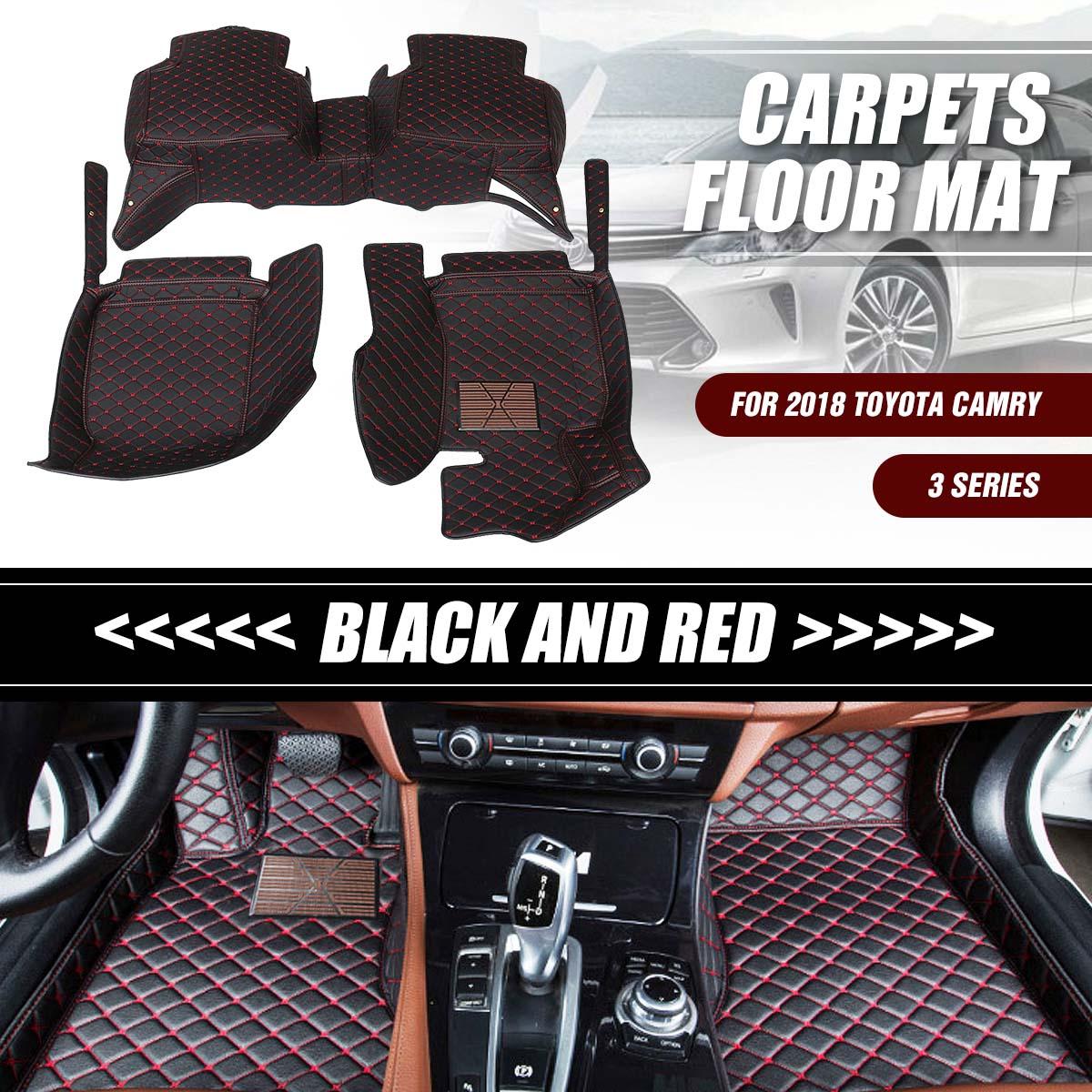 Tapis de voiture tapis de sol antidérapant en cuir PU imperméable pour Toyota Camry 2018 accessoires de voiture style Auto