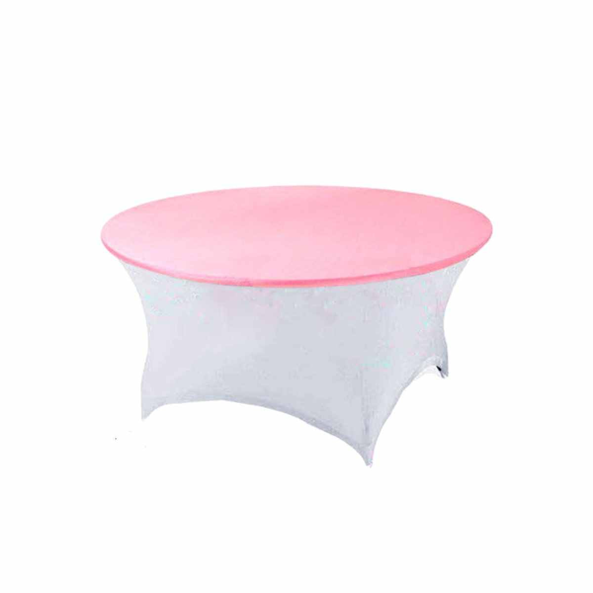 Stretch Round Table Cloth Waterproof Dining Table Cover Tablecloth Kitchen Home