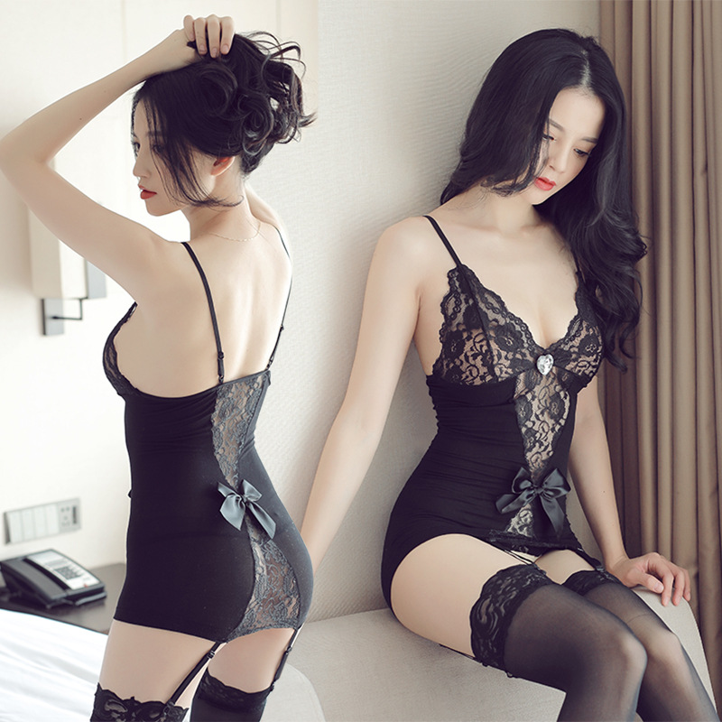 Hot Sale Sexy Lingerie Transparent Tight Openwork Stockings Women's Lace Uniforms Stockings Sexy Stockings Lingerie