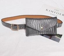 BISI GORO 2019 new Handbag retro-weave pattern Envelope bag waist women fanny packs  belt model fashion mini small
