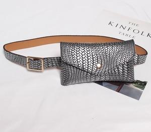BISI GORO 2019 new Handbag retro-weave pattern Envelope bag waist bag women fanny packs  belt bag model fashion bag mini small