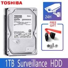 "TOSHIBA 1 테라바이트 비디오 감시 하드 드라이브 디스크 DVR NVR CCTV 모니터 HDD HD 내부 SATA III 6 기가바이트/초 5700RPM 32MB 3.5 ""하드 디스크"