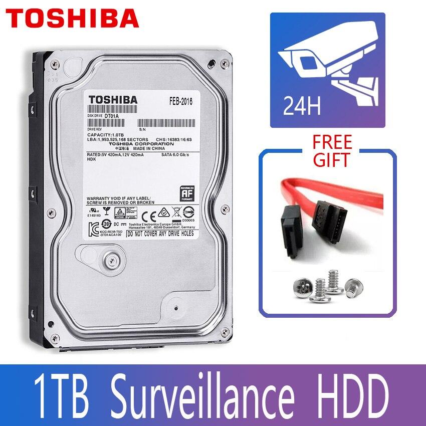 "Toshiba 1 tb de vigilância por vídeo disco rígido dvr nvr cctv monitor hdd hd interno sata iii 6 gb/s 5700 rpm 32 mb 3.5 ""disco rígido"