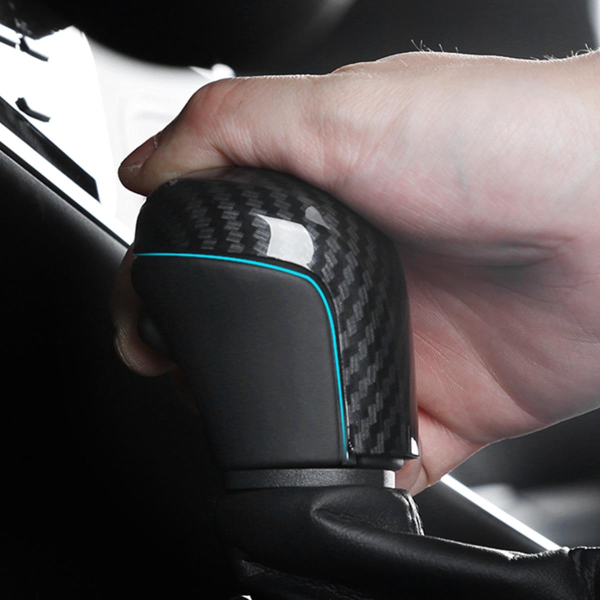 Para toyota camry 2018 2019 8th shift de engrenagem botão guarnição capa etiqueta do carro estilo acessórios