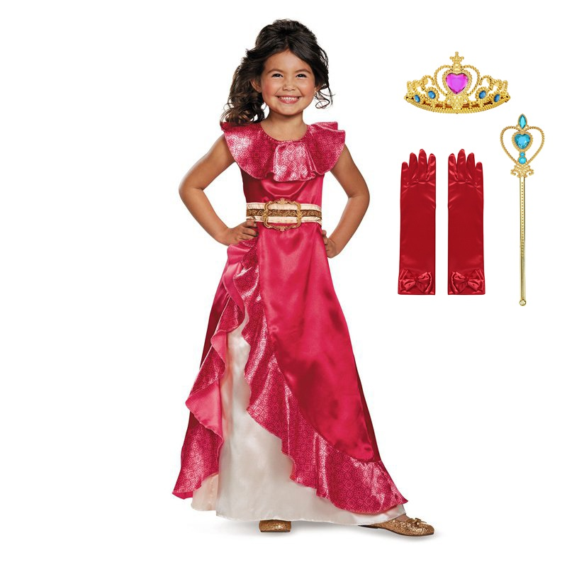 Image 5 - Girl Dress Elena Adventure Fantasy Children Clothing Summer Elena Princess Cosplay Costume Girls Ruffles Birthday Party DressDresses   -