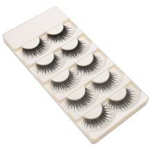 Shellhard 5 Pairs Eyelashes Natural False Fake Eyelashes Long Thick Cross Black Soft Eyelashes Eye Lashes Makeup Tools