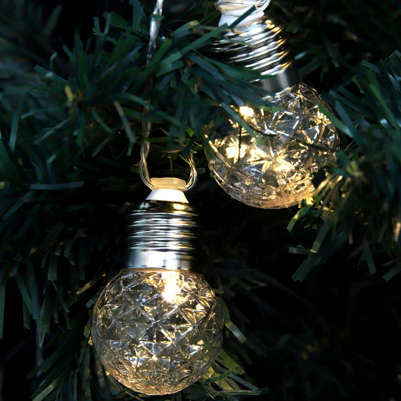 Outdoor Solar Light Fairy String LED DIY Christmas Festival LED String Lights Garden Yard Decoration Warm White guirlande in Lighting Strings from Lights Lighting