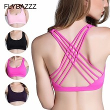 Sexy Cross Backless Yoga Sports Bra Top For Female Brassiere Fitness Wear Women Gym Active Womens Clothing