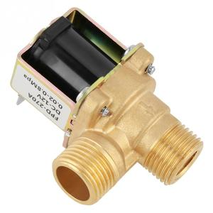 Image 5 - חם DC 12V DN15 G1/2 פליז חשמלי סולנואיד Valve בדרך כלל סגור כניסת מים מתג עם מסנן