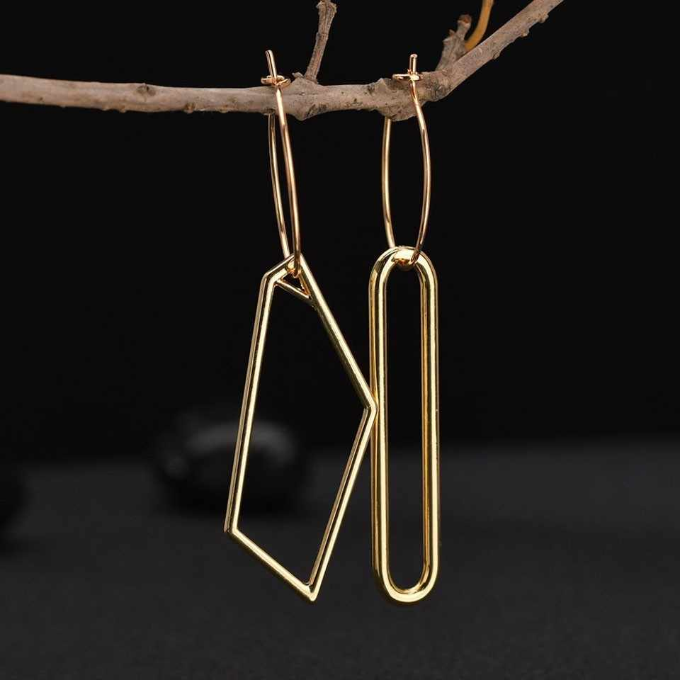 Popular Asymmetrical Women Drop Earrings Concise Geometric High Quality Engagement Women /Ladies Drop Earrings Jewelry