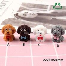 Puppy Dog 3D Cabochons Kawaii Resin Miniature Animal Art Flatback Cabochon DIY Decorative Craft Scrapbooking 10 pcs 22*21*24 mm