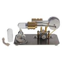 Hot Air Stirling Engine Motor Model Electricity Generator Metal Base Science Educational Toy Educational Model