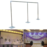 Party/Wedding Wed Backdrop Stand/Curtain Photo Booth Stand Frame Flower Stand Drapery Pipe Photography Backdrops Wedding GBQ001