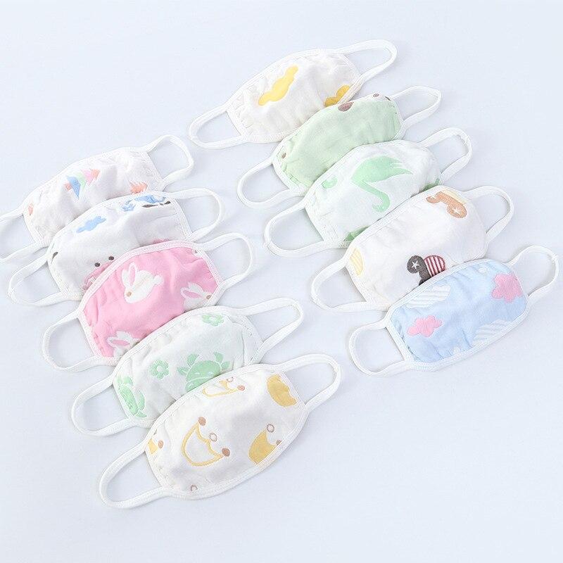 Random Non-fluorescent Cute Hot Sale Cartoon Popular Cotton Mask Kawaii Face Mask Mouth Muffle 1PC Mouth Mask Anti Dust