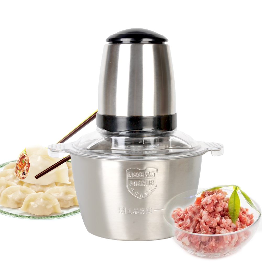 ITOP Electric Meat Grinder Stainless Steel Chopper 350W Automatic Mincing Machine Household Food Processor