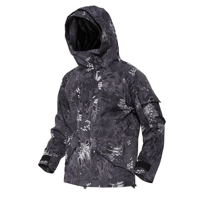 Outdoor SoftShell Jacket Hunting Full Pressure Double Layer Windbreaker Waterproof Ski Coat Rain Camping Army Tactical Clothing