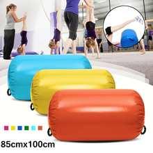 85×100 см надувной гимнастический Тренажерный Зал Напольный надувной матрас для домашней гимнастики Упражнение перевернутый задник круглый столбик коврик
