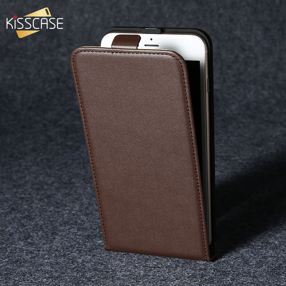 KISSCASE Retro Vertical Leather For iPhone 6 6s 7 Plus 5s SE Cover Business CasesFor <font><b>Samsung</b></font> Galaxy S4 <font><b>mini</b></font> S7 S6 Edge S8 Plus image