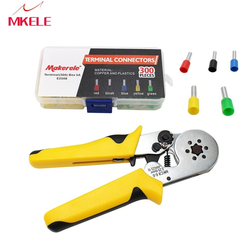 HMC8 6-6 Self-adjustable Crimping Tool High Quality Alloy Steel Connector Pliers Wire Crimping Tool Terminal Crimp
