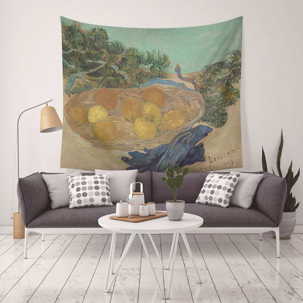Indian Style Oil Painting Macrame Wall Hanging Gobelin Polyester Cotton Tapestry Living Room Home Decor Mandala Wall Tapestry in Tapestry from Home Garden
