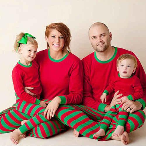 5451824d27 ... Family Matching Red White Striped Christmas Pajamas PJs Sets Kids Xmas Sleepwear  Nightwear For New Year ...