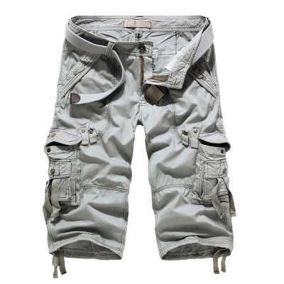 Summer Camouflage Men's Loose Cargo Shorts Plus Size 29-40 Men Camo Short Pants Homme Cargo Shorts NO BELT