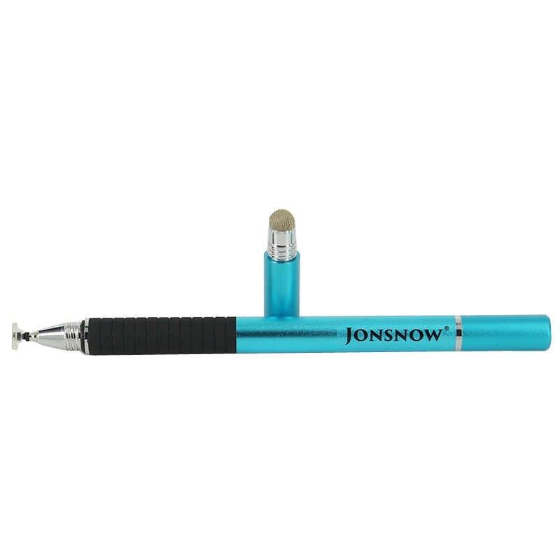3 في 1 متعددة الوظائف قلم شاشة اللمس العالمي عالية الدقة بالسعة الألياف غرامة نقطة القرص القلم ل PhoneTablet