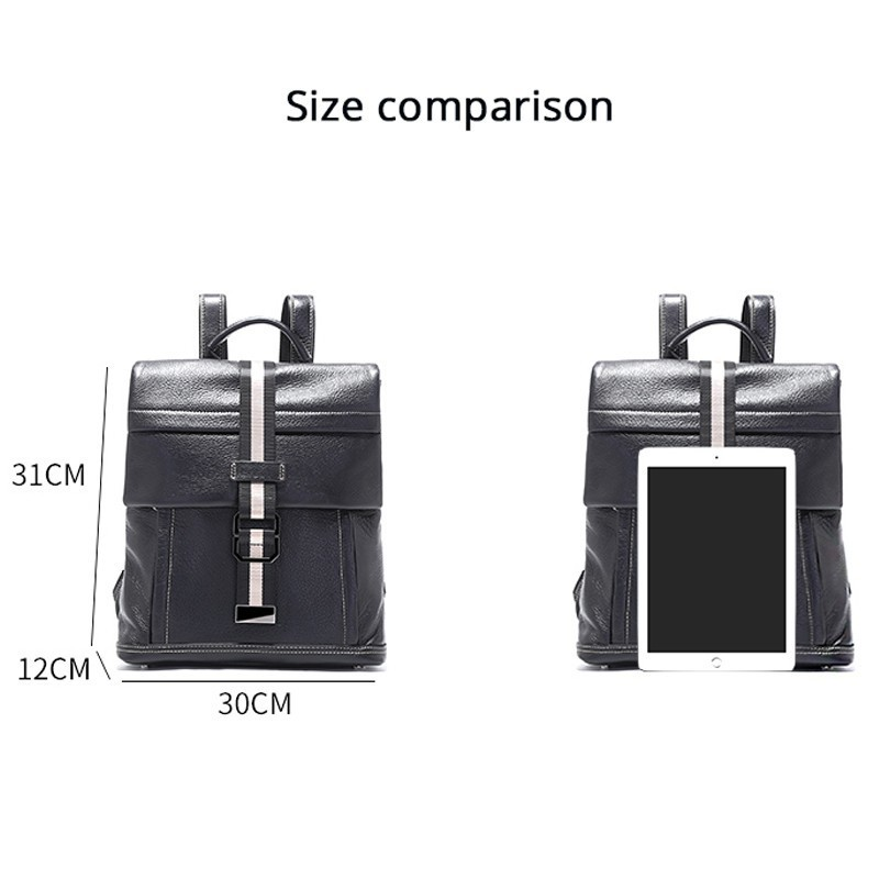 5f75ae747805 2019 New Ladies Large Capacity Leather Backpack Simple Luxury Black  Backpack Good Quality Woman Shopping Travel Laptop Bag -in Backpacks from  Luggage   Bags ...