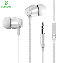 FLOVEME In-Ear Sport Wired Earphone For Samsung HIFI Clarity Stereo Sound Earphones For Huawei Portable Mobile Phone Hesdset monster clarity hd in ear white 137031 00