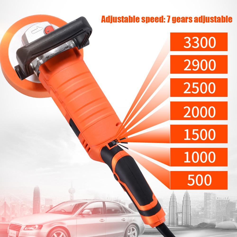 Image 3 - 1580W 220V Grinder Mini Polishing Machine Car Polisher Sanding Machine Orbit Polish Adjustable Speed Sanding Waxing Power Tools-in Polishers from Tools on