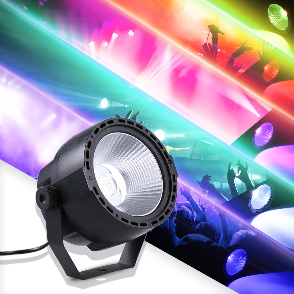 Mini DJ 7 DMX Channels Lights Disco Party Show Light LED 12W 3in1 RGB COB Par Light Wireless Remote Control Stage Lighting Lamp