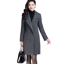 Women Autumn Winter Coat Warm Wool Blends Coat Long Cashmere Female Coats European Fashion Jacket Outwear Plus Size yuoomuoo new women wool coat autumn winter medium long female cashmere coat european style ladies warm casual grey woolen coats