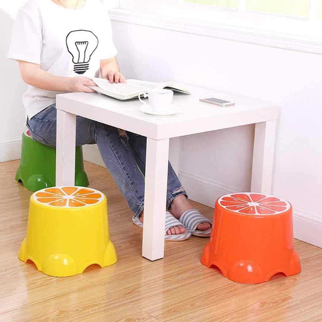 4 цвета, плотные милые табуреты с фруктовым узором, гостиная, нескользящая банная скамейка, детская подушка, меняющая обувь, стул для детей, креативный