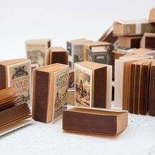 JIANWU 1 шт. ретро мини спичечная коробка блокнот креативный крафт-бумага может рвать блокнот для заметок kawaii школьные принадлежности