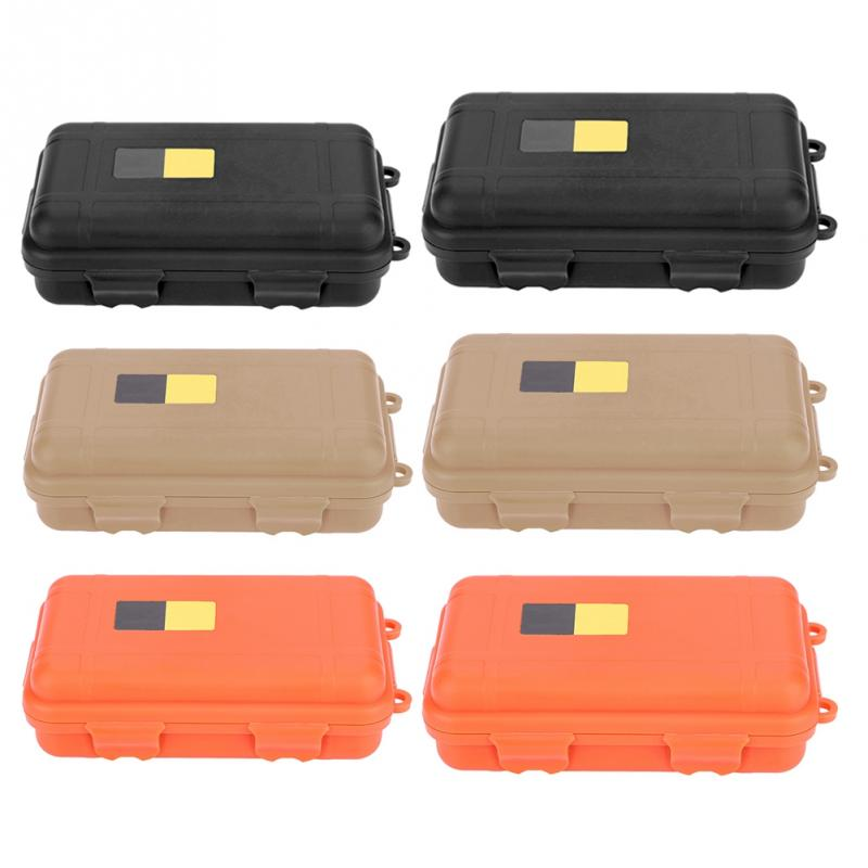 Outdoor Survival Box EDC Waterproof Shockproof Safety Equipment Case Portable Plastic Sealed Tool Box Dry Box Storage Container(China)