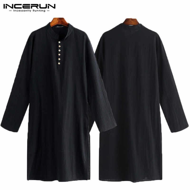 99ea042da6 ... Nuevo 2019 hombres Kurta Camisas manga larga vestido Kurta islámica  camisa elegante Kaftan traje hombre paquistaní ...