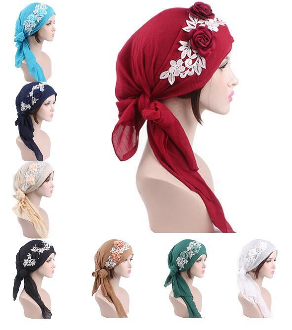 Muslim Cotton Cover Inner Hijab Cap Islamic Head Wear Hat Under Scarf Fashion Women Hijabs Flower Hair Loss Cap Headscarf New