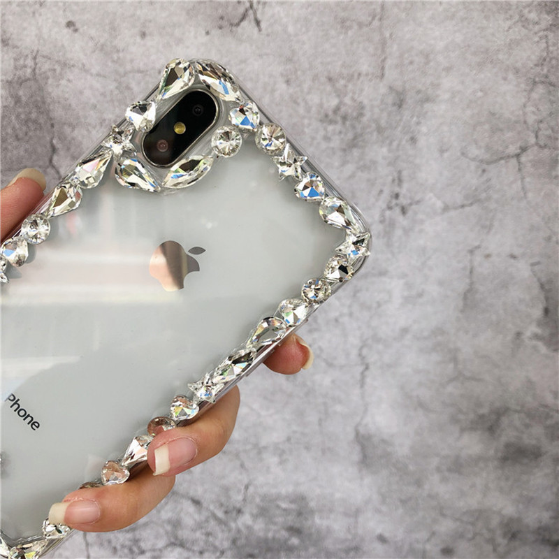 Lovebay Case For IPhone 6 6s 7 8 Plus Crystal Diamond Grain White Transparent For Iphone X XS Max XR Soft TPU Mobile Phone Shell
