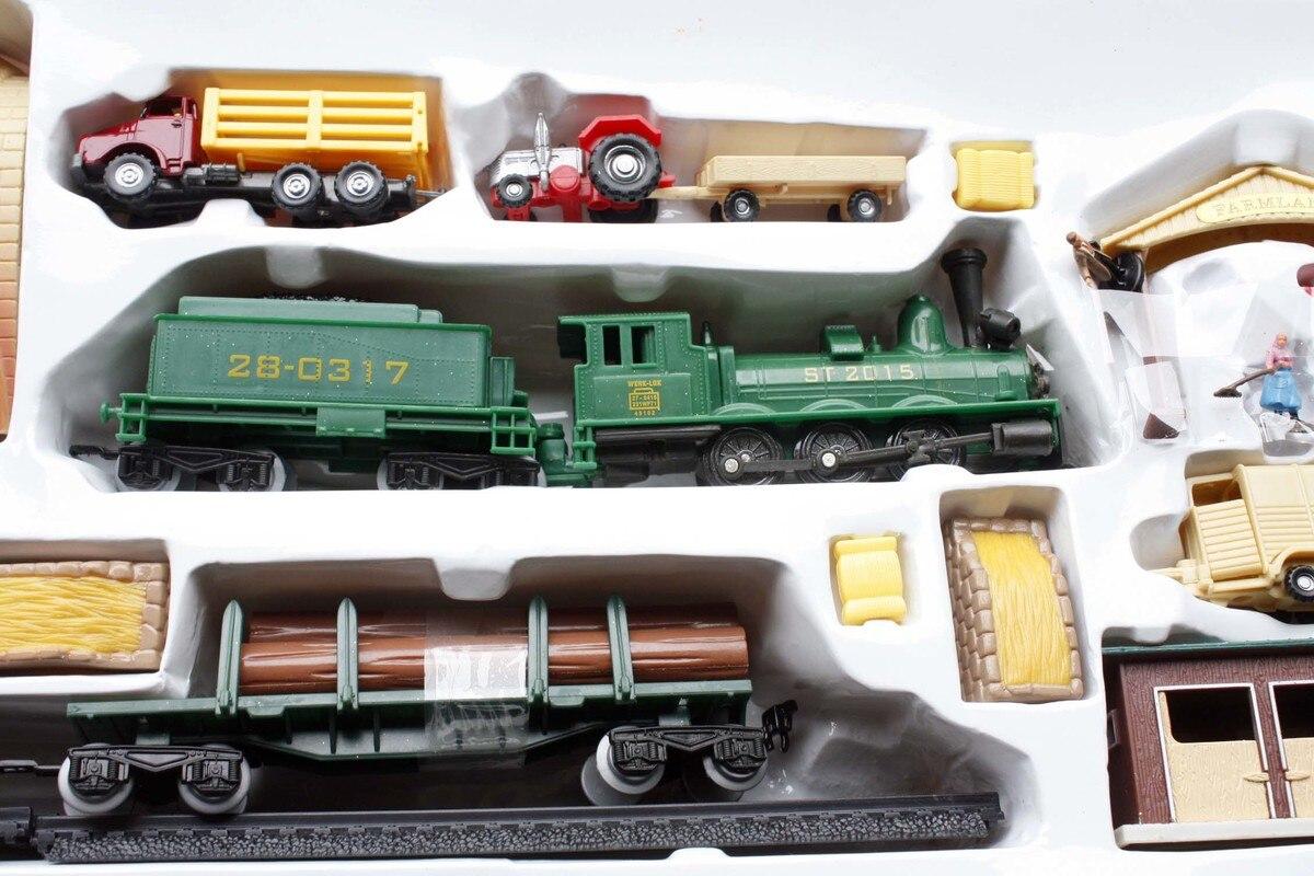 1/87 Train Électrique Modèle En Plastique Jouet Rail HO Train Kit Sable Table Modèle Jouets Pour Enfants Livraison Gratuite