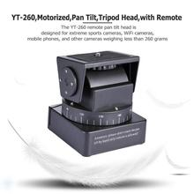 ALLOET YT 260 motorlu Pan Tilt Tripod başkanı ile uzaktan kumanda kamera için Gopro Hero Yi Sony QX1L QX10 QX30 QX100