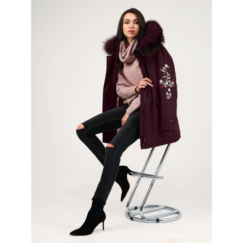 tom farr down jacket woman hooded 2018 winter female clothes coats T4F-W3505_29 christmas long hooded jacket girl 90