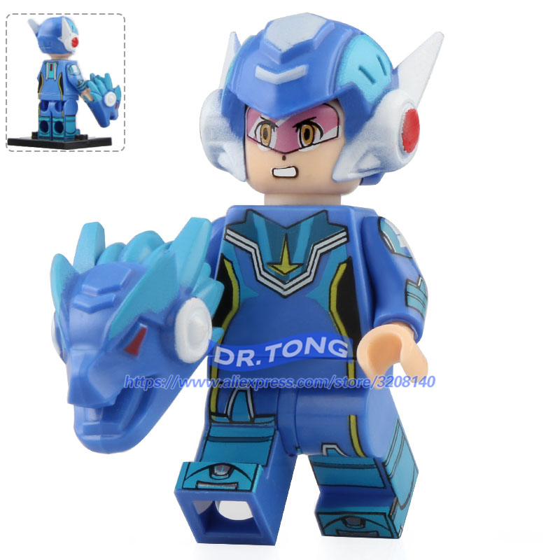 Model Building Super Heroes Building Blocks Mega Man Yuanzu Rockman Ax Light Hot Bucket Meteor Figures Gift Toys Model Kids Pg8137 Complete In Specifications