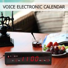 Electronic Voice Music Calendar USB Digital Display Temperature Alarm LED Clock
