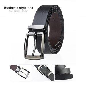 Image 4 - MEDYLA Cinturón de cuero clásico para hombre, cinturón masculino clásico de 3,2 cm, marrón, para Hebilla de metal y mayores