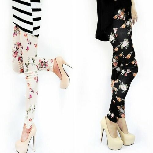 2019 Women Jeans Look Roses Floral Fitness   Legging   Soft Stretchy Pants Sexy Pencil   Leggings